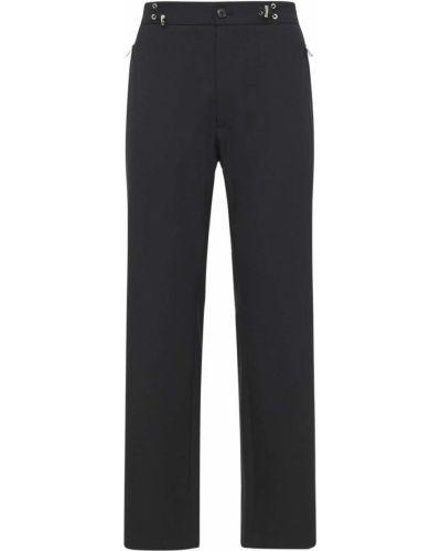 Czarne spodnie wełniane Moncler