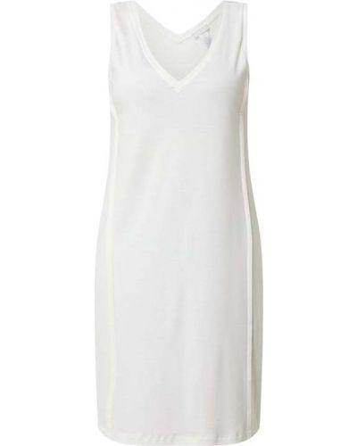 Biała koszula nocna bawełniana z dekoltem w serek Hanro
