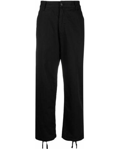 Czarne spodnie bawełniane z paskiem Stone Island Shadow Project