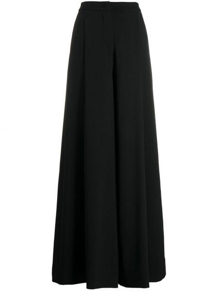 Брючные черные расклешенные брюки с высокой посадкой Lardini