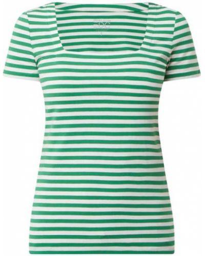 Zielony t-shirt bawełniany w paski Edc By Esprit