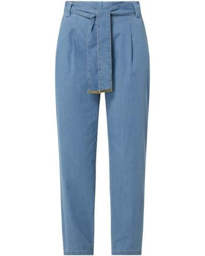 Niebieskie spodnie materiałowe Comma