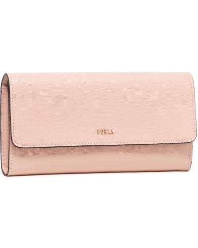 Różowy portfel Furla