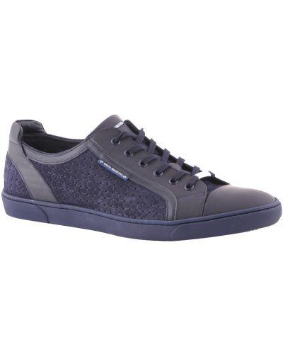 Синие кроссовки замшевые Dino Bigioni