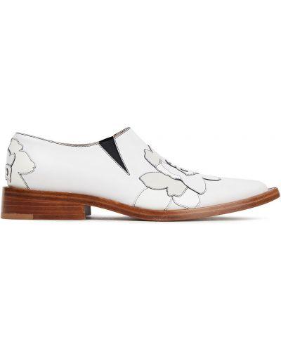 Loafers na obcasie - białe Victoria Beckham