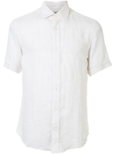 Biała koszula krótki rękaw Gieves & Hawkes