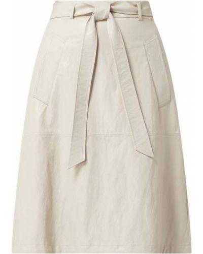 Beżowa spódnica rozkloszowana z paskiem Cinque