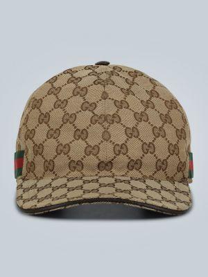 Klasyczny brązowy kapelusz skórzany Gucci