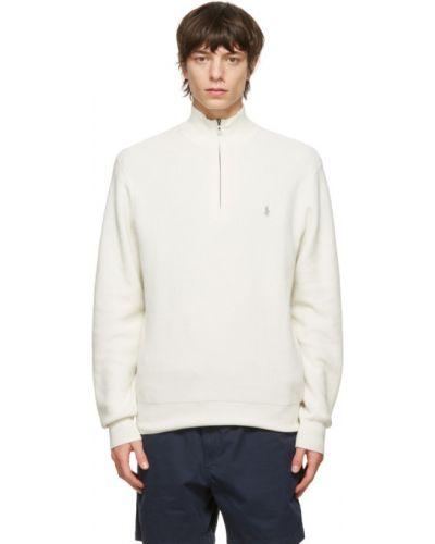 Z rękawami długi sweter z kołnierzem z haftem Polo Ralph Lauren