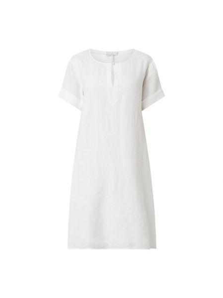 Sukienka rozkloszowana krótki rękaw - biała Cinque