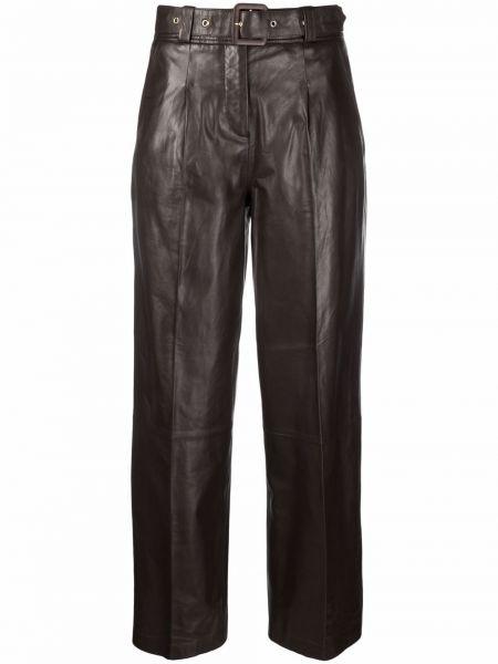 Кожаные брюки - коричневые Arma