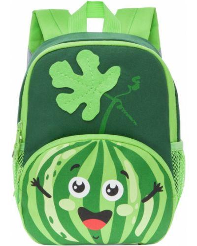 Зеленый школьный ранец на молнии Grizzly