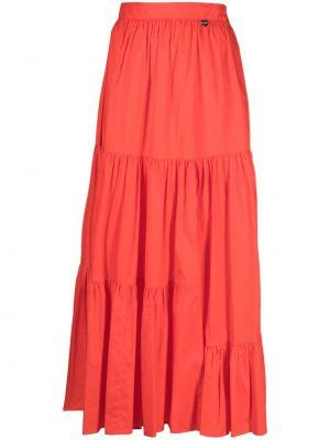 Хлопковая с завышенной талией красная юбка миди Twin-set
