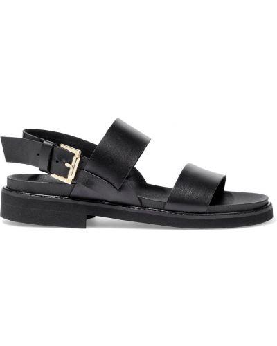 Czarne sandały skorzane klamry Iris & Ink