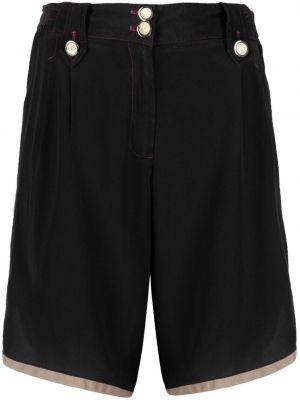 Шелковые черные с завышенной талией шорты Dolce & Gabbana Pre-owned