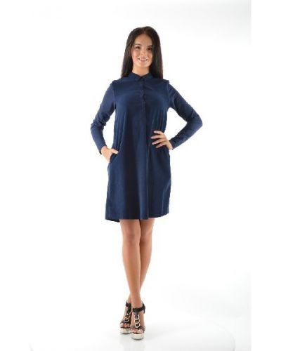 Хлопковое платье - синее European Culture