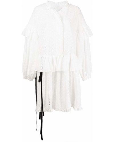 Белое хлопковое платье макси Sandy Liang