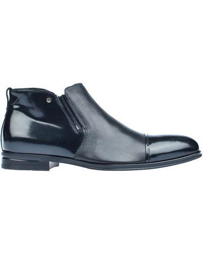 Ботинки осенние кожаные лаковые Giampiero Nicola