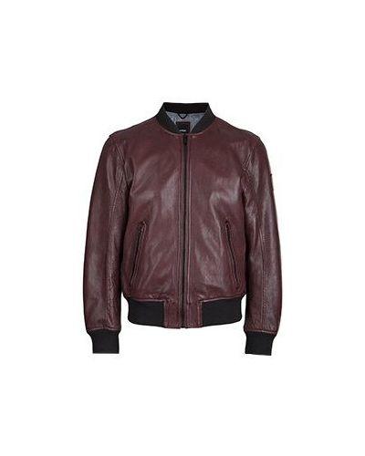 Кожаная куртка бордовый Strellson