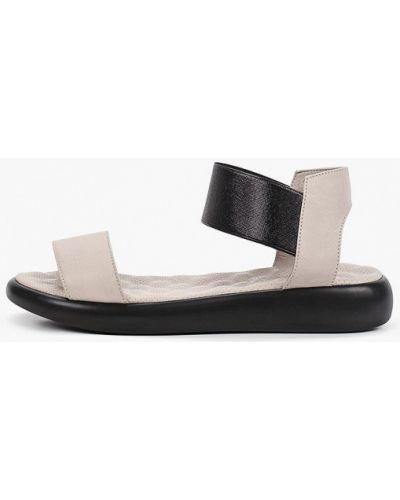 Серые кожаные сандалии Marco Bonne