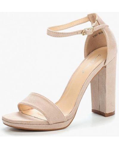 Бежевые босоножки замшевые Sweet Shoes