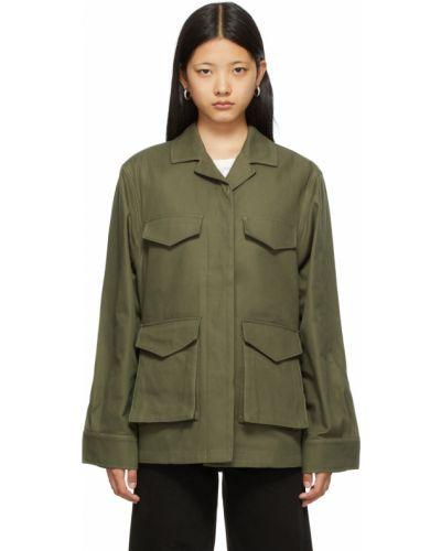 Зеленая куртка с воротником Toteme