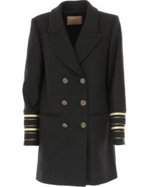 Czarny płaszcz wełniany Twin Set By Simona Barberi