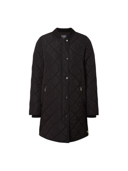 Czarny płaszcz ze stójką Montego