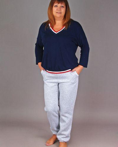 Спортивные брюки с карманами из футера Грандсток