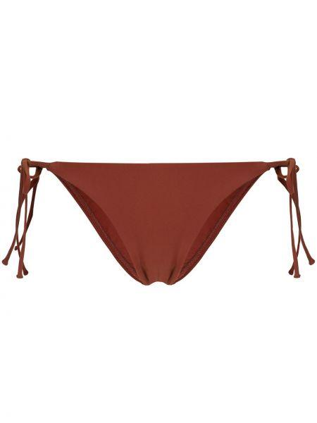 Пляжные нейлоновые коричневые бикини с низкой посадкой Matteau