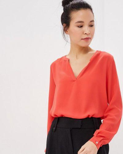 Блузка с длинным рукавом коралловый красный Only
