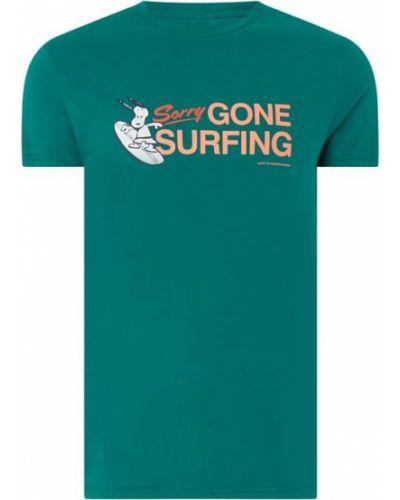 Zielony t-shirt bawełniany z printem Shiwi