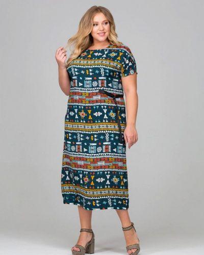 Платье весеннее бирюзовый Intikoma