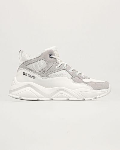 Białe sneakersy na platformie skorzane Big Star