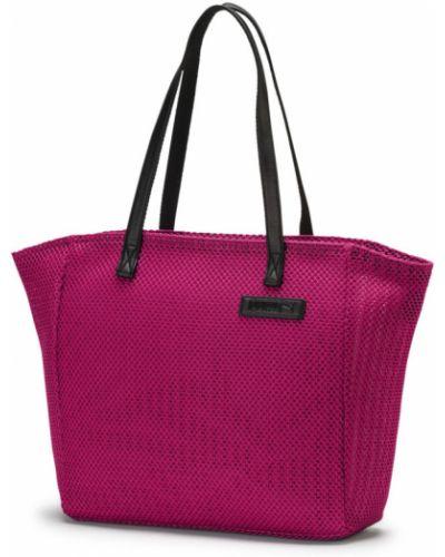 Сумка шоппер розовый большая Puma