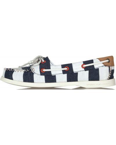 Ботинки на шнуровке кожаные Sperry