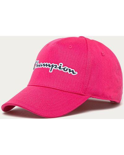 Różowy kapelusz materiałowy Champion