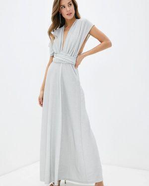 Вечернее платье осеннее серебряный Fashion.love.story