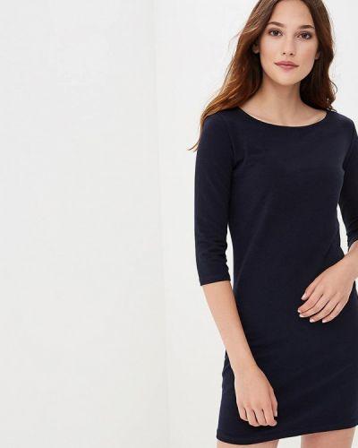 Платье вязаное синее твое