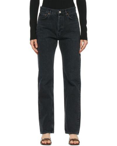 Prosto czarny jeansy z kieszeniami Agolde
