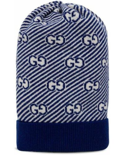 Niebieska czapka Gucci
