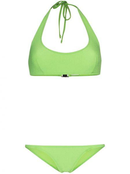 Нейлоновые зеленые бикини с вырезом Lisa Marie Fernandez