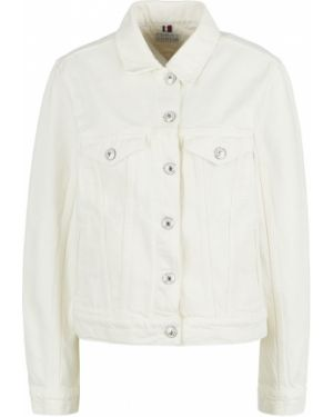 Молочная куртка с вышивкой Tommy Hilfiger