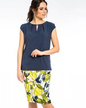 Блузка без рукавов из вискозы синяя Modellos