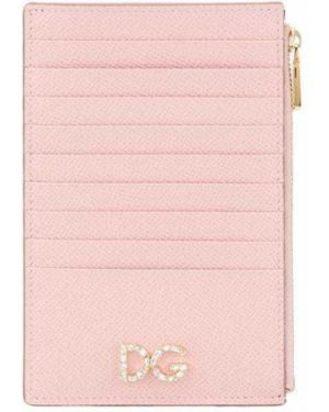 Кожаный кошелек золотой спортивный Dolce & Gabbana