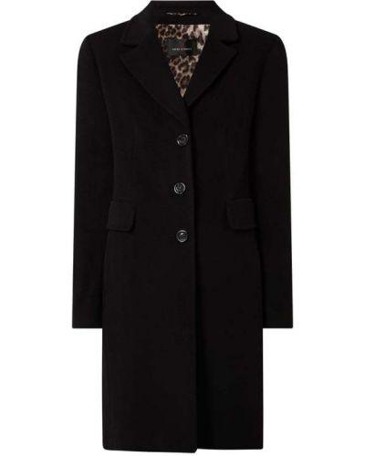 Czarny płaszcz zapinane na guziki Fuchs Schmitt