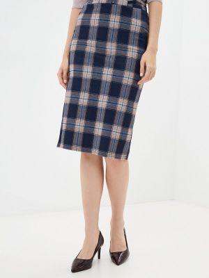 Прямая юбка - синяя Moki