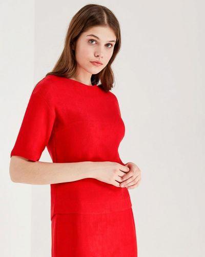 Блузка с коротким рукавом польская красная Echo