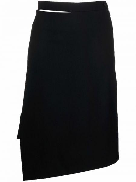 Шерстяная юбка миди - черная Vivienne Westwood
