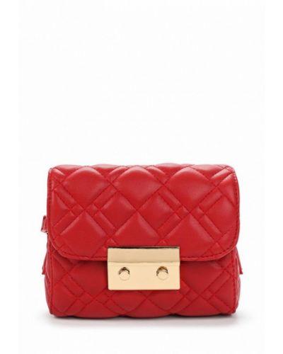 Красная сумка через плечо Fabretti
